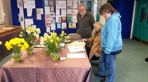 Members of the congregation of Redruth Wesleyan Chapel viewing the exhibition