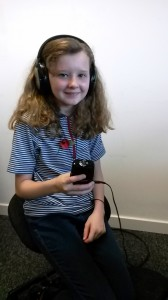 Maisie of 7th Camborne Guides was trained to make digital recordings of people's memories.