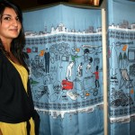 Pamela Rana with her British Sari Landscape