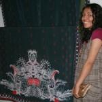 Rahiet Ashfaq with her Sari for Scotland
