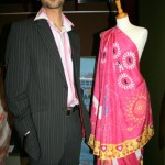 Samar Abbas with his Sari for the iPOD generation