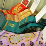 Children from Barham Primary School also sought out saris for the exhibition, loaned by women in their families