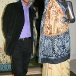 Nilesh Mistry with his Sari for Harrow