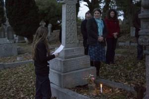 Rhhiannon by grave