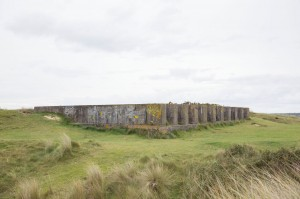 Bunkers on the dunes at Hayle
