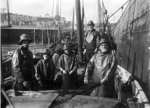 Older fishermen in Newlyn