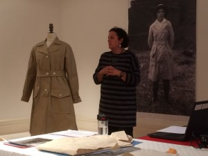 Costumes expert giving talk at Museum