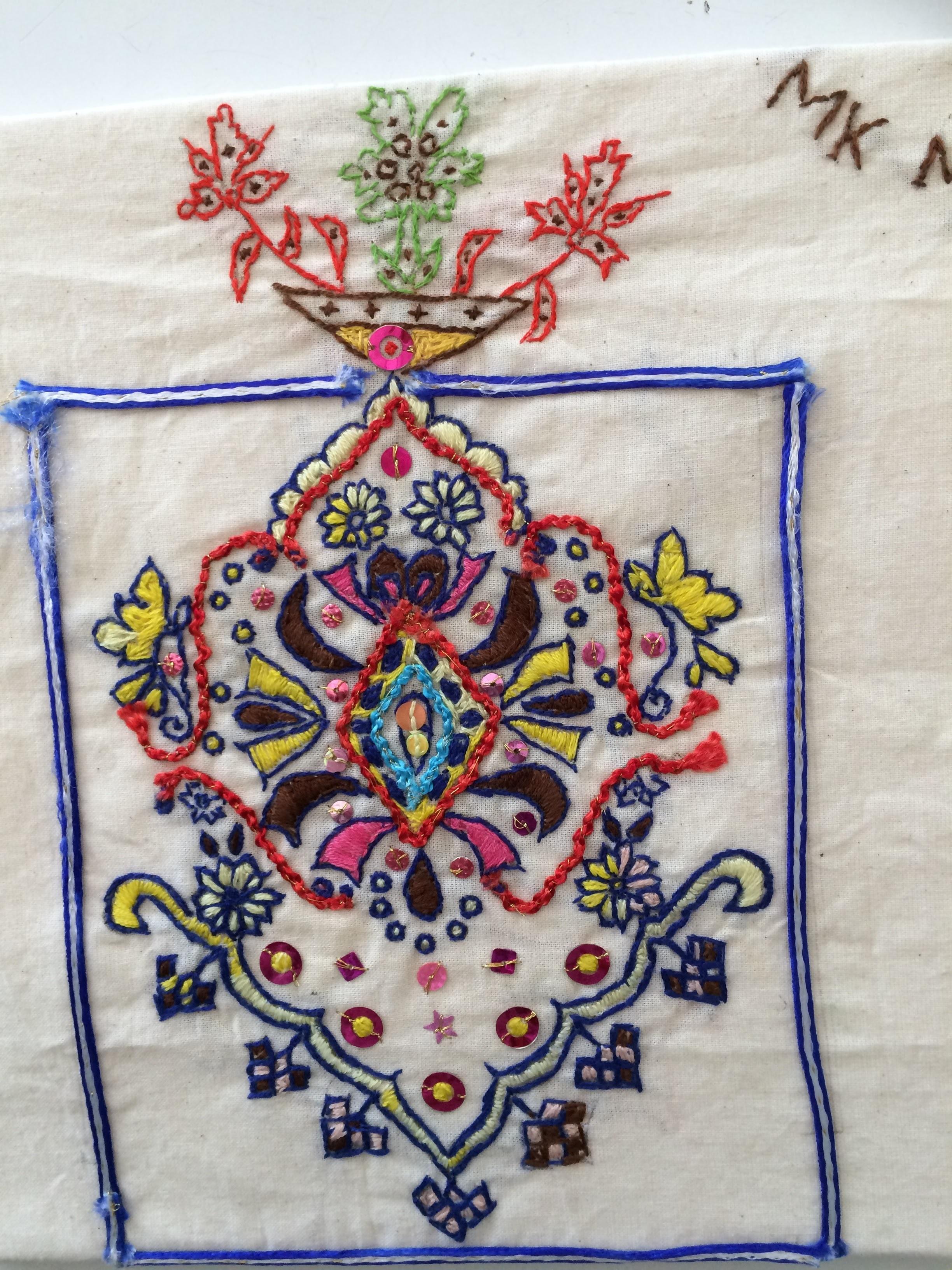 Square embroidery (Manik Miah)
