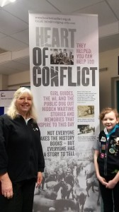 Guides at Redruth exhibition