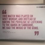 Music of the guns poster Redruth exhibition