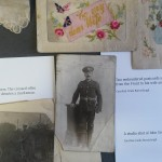 John Unwin and embroidered postcards