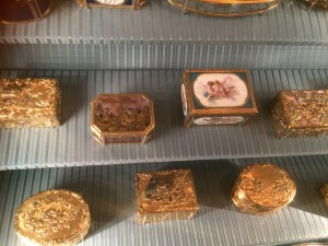 Gold boxes at the Wallace Collection