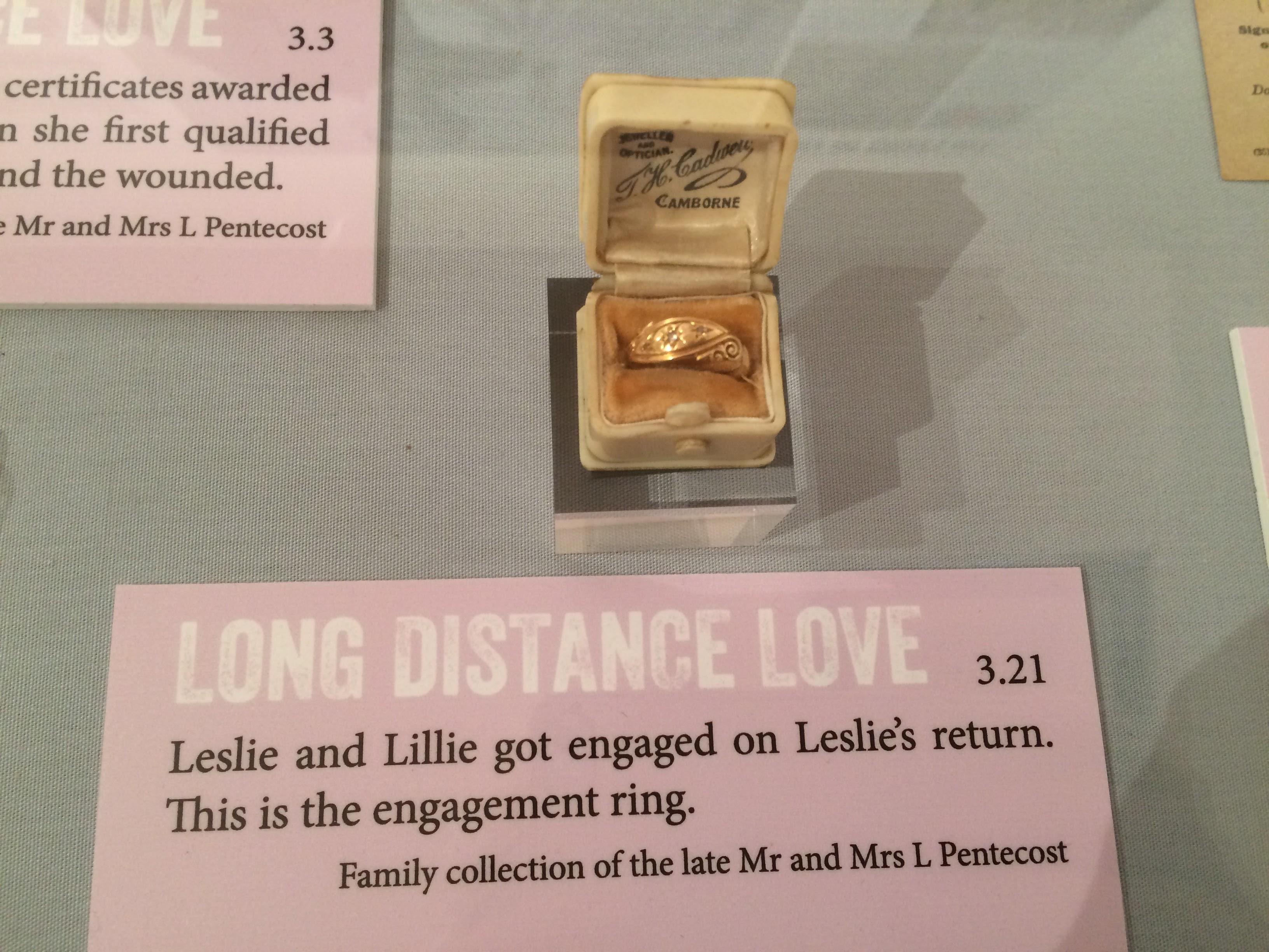 Lillie Uren's engagement ring