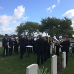 Band plays at Sailly-sur-la-Lys