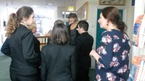 Students from Redruth School visiting the Cornish Studies Library as part of Heart of Conflict
