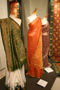 Traditional saris on display. British Sari Story Brent