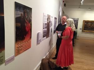 Ruth Lidgey talking to Ken Johns