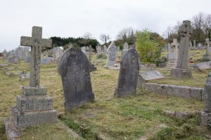 The graves of two women killed in an explosion at Hayle Explosives Factory in 1916