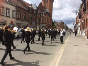 CYB marching through Estaires