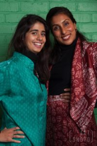 Shilpa, pictured here with her atelier manager Nikita, now has her own fashion label, the House of Bilimoria, combining classic tailoring with an Eastern twist. Photo credit: Amanda Rose Photo